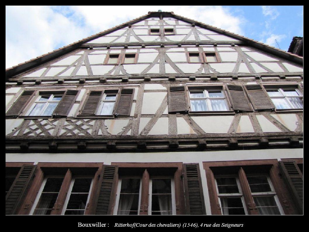Bouxwiller : Ritterhof(Cour des chevaliers) (1546), 4 rue des Seigneurs