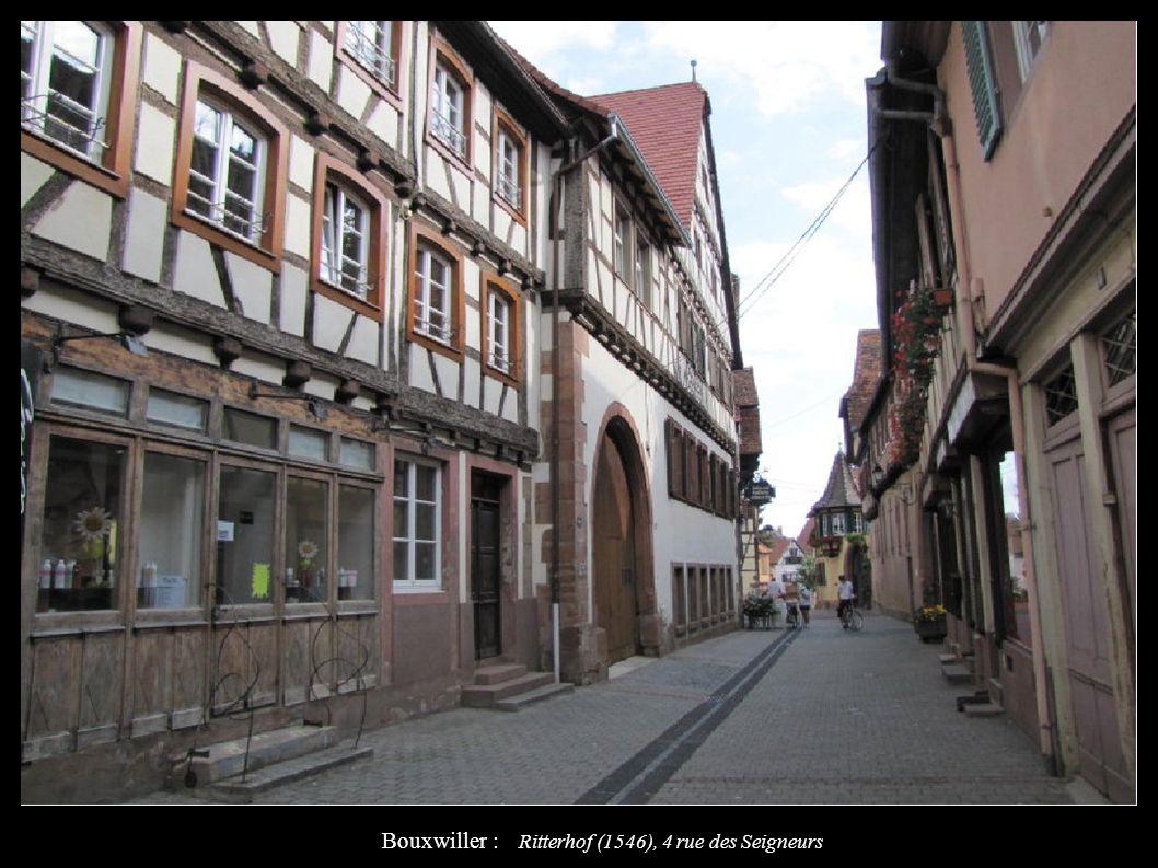 Bouxwiller : Ritterhof (1546), 4 rue des Seigneurs