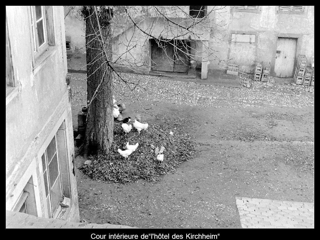 Cour intérieure del'hôtel des Kirchheim
