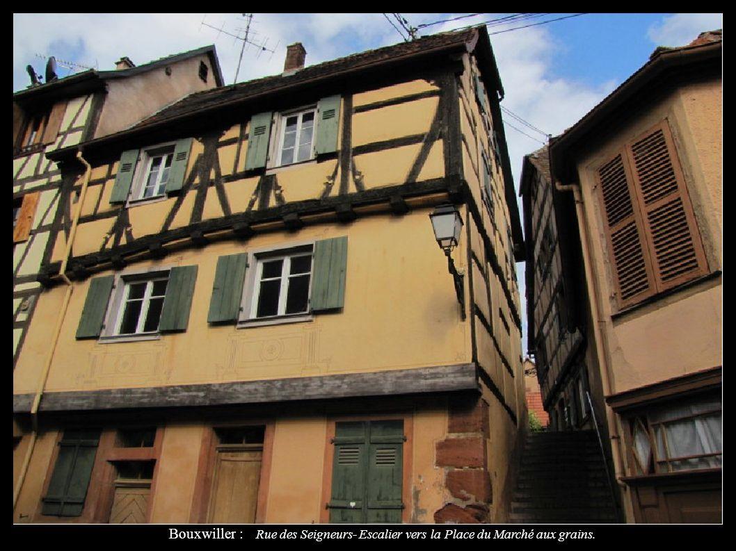 Bouxwiller : Rue des Seigneurs- Escalier vers la Place du Marché aux grains.