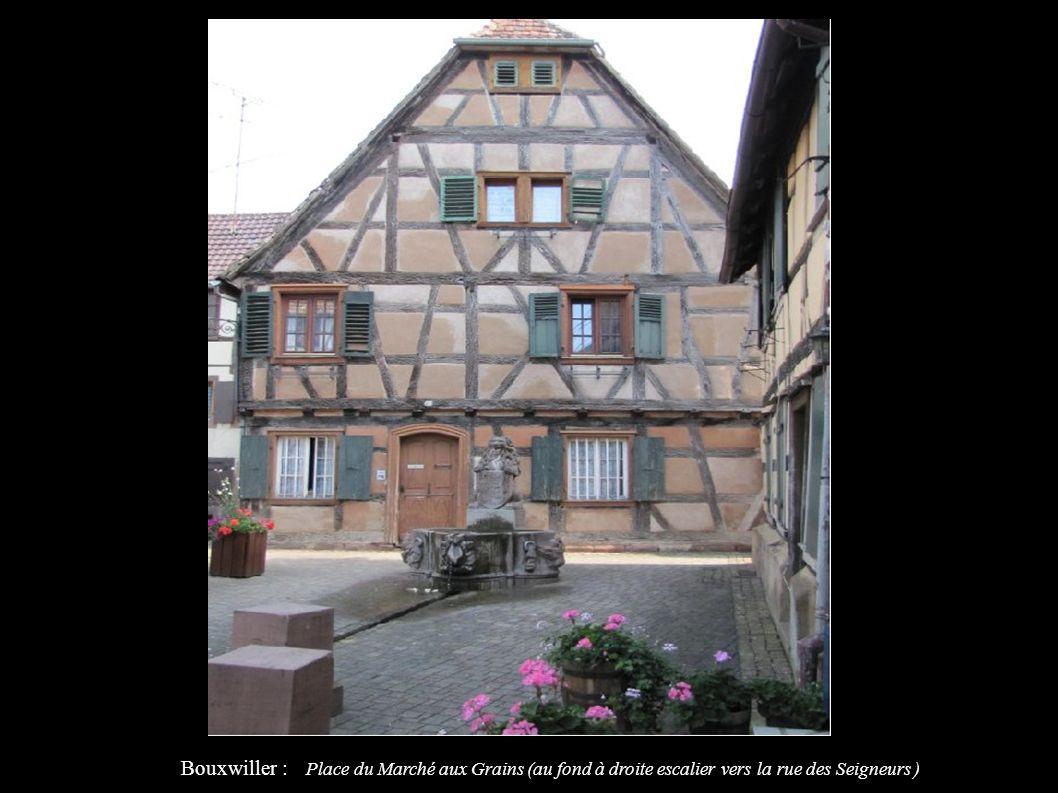 Bouxwiller : Place du Marché aux Grains (au fond à droite escalier vers la rue des Seigneurs )