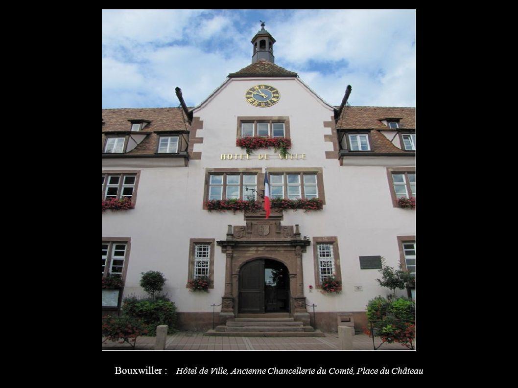 Bouxwiller : Hôtel de Ville, Ancienne Chancellerie du Comté, Place du Château