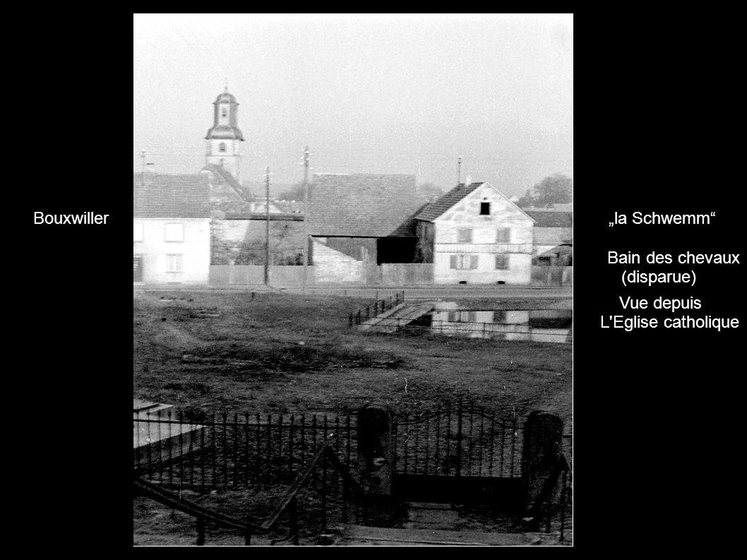 la Schwemm Bain des chevaux (disparue) Vue depuis L'Eglise catholique