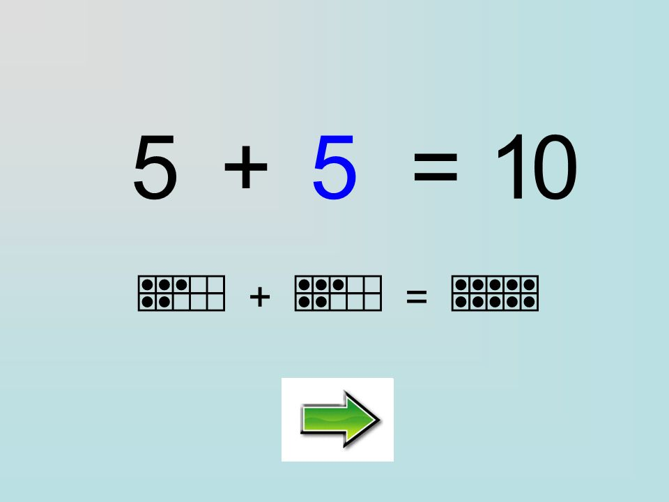Clique sur la bonne réponse : 5+=10 ………… 7952