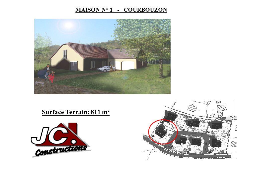 MAISON N° 1 - COURBOUZON Surface Terrain: 811 m²