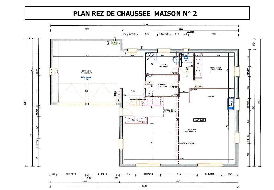 PLAN REZ DE CHAUSSEE MAISON N° 2