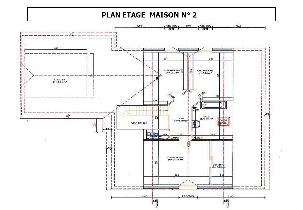 PLAN ETAGE MAISON N° 2