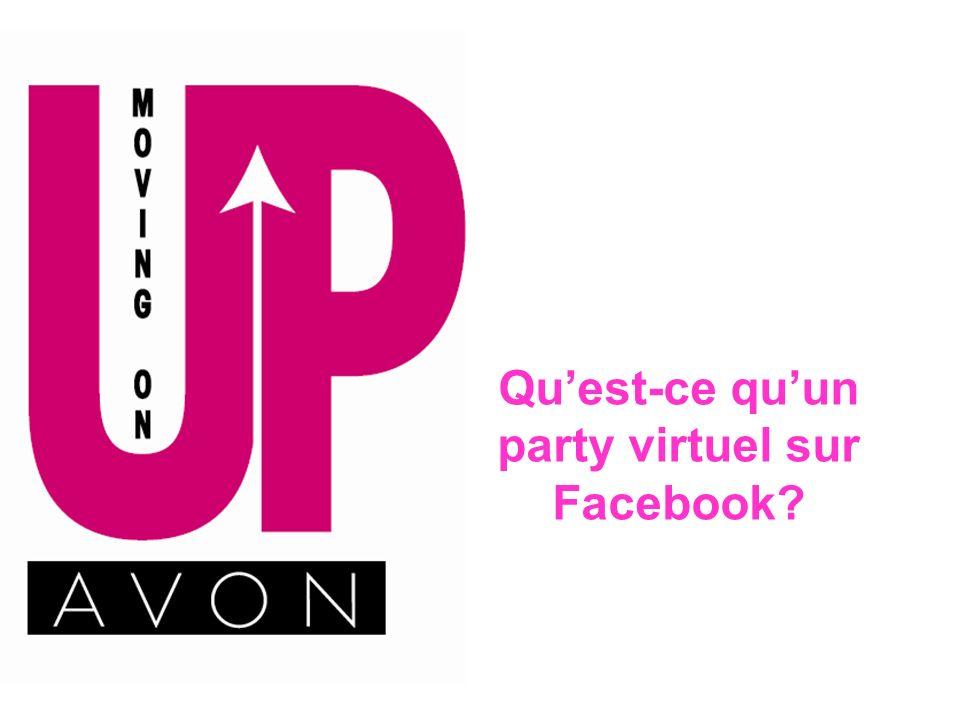Réponse: Organiser un party virtuel sur Facebook est une manière de mener plus loin les parties à la maison, en les amenant directement aux domiciles des gens lorsquils sont en ligne.