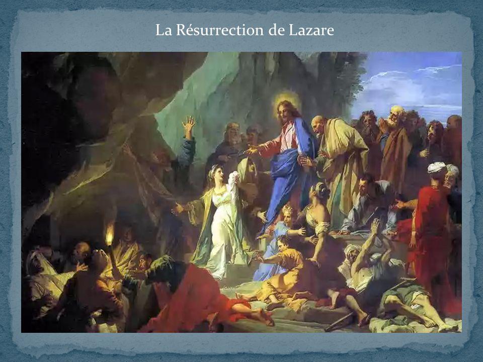 Evangile de Jean 11, 1-44: texte ci-dessous très raccourci Lazare, le frère de Marthe et Marie, était tombé malade.