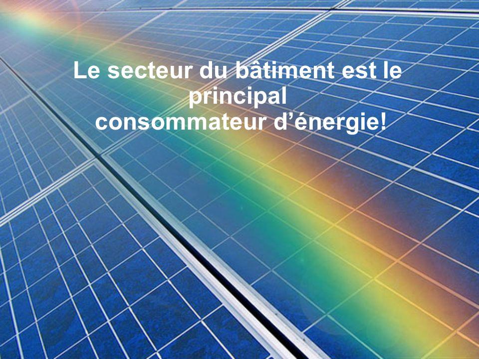 Le secteur du bâtiment est le principal consommateur dénergie!