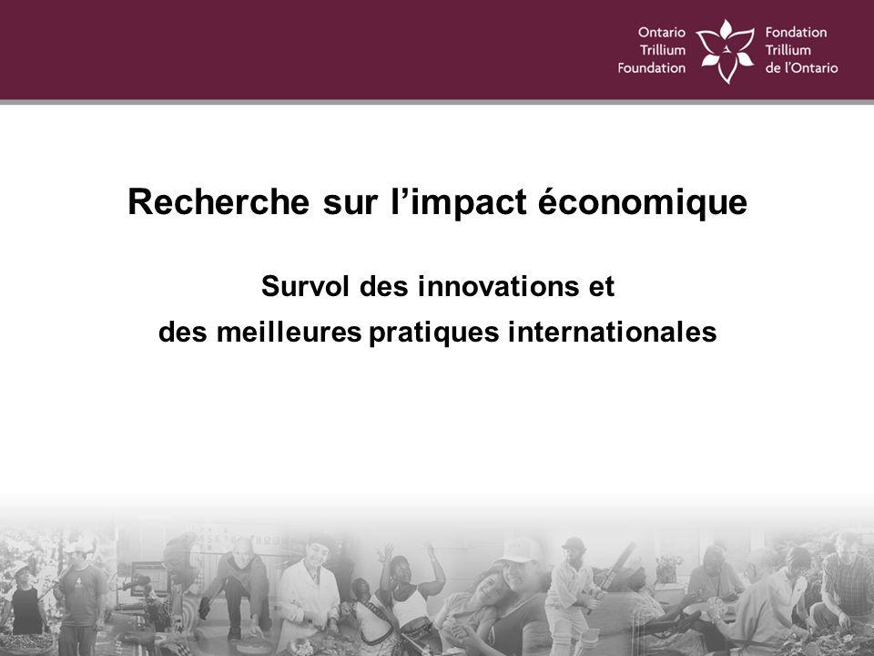 Recherche sur limpact économique Survol des innovations et des meilleures pratiques internationales