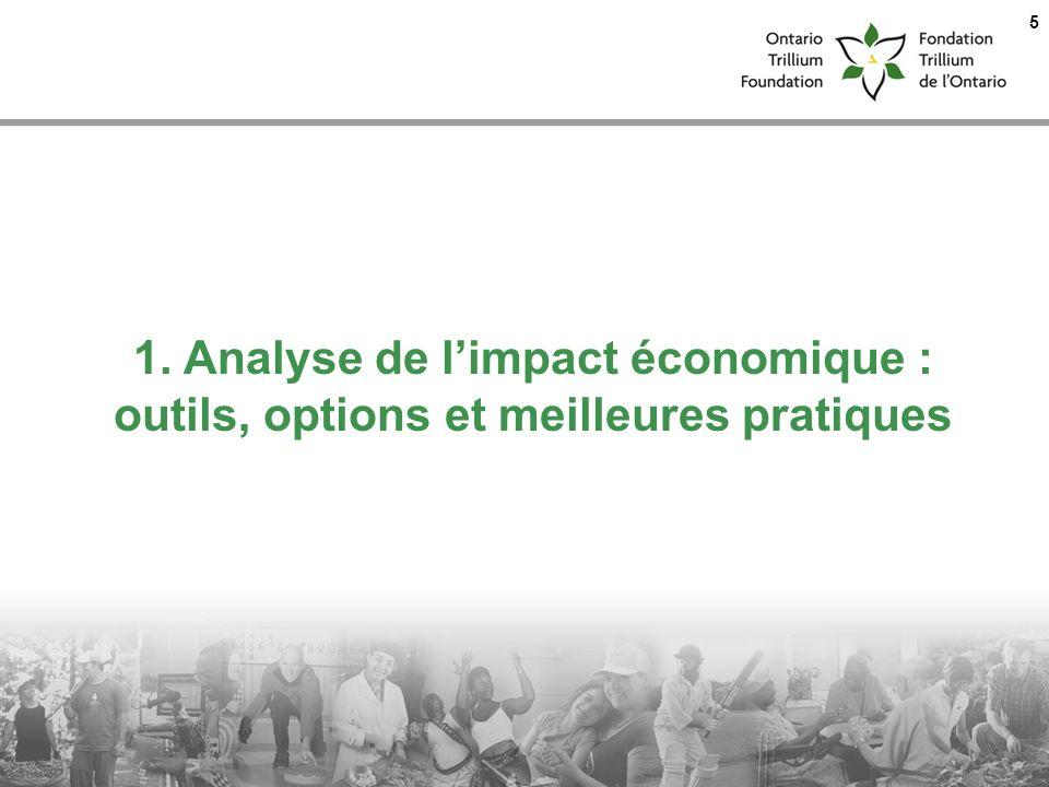 1. Analyse de limpact économique : outils, options et meilleures pratiques 5