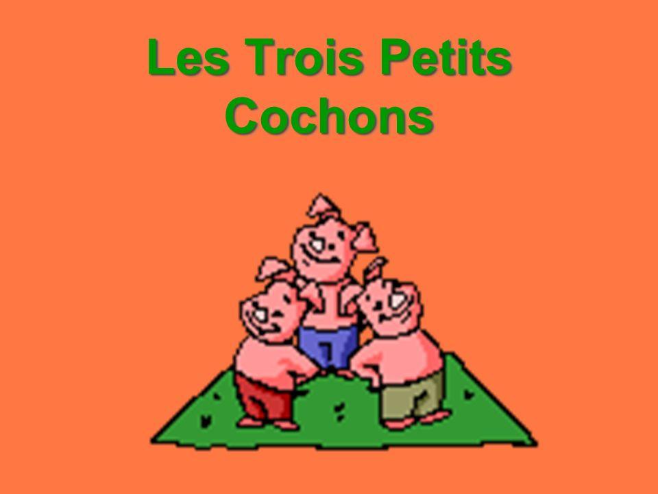 There are trois petits cochons.Un petit cochon is petit.
