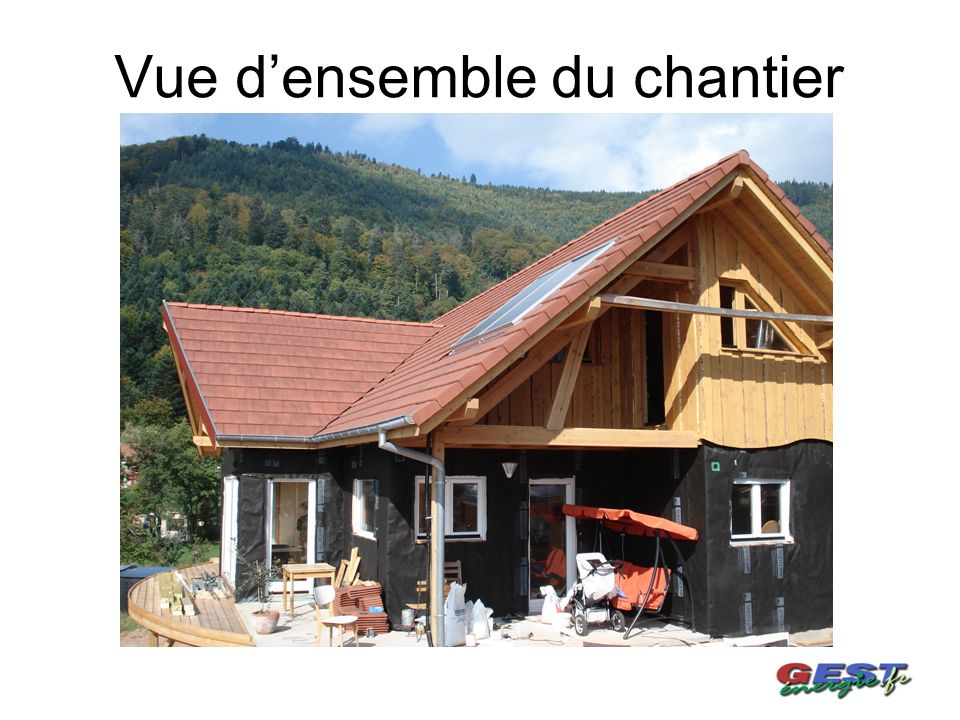 Vue densemble du chantier
