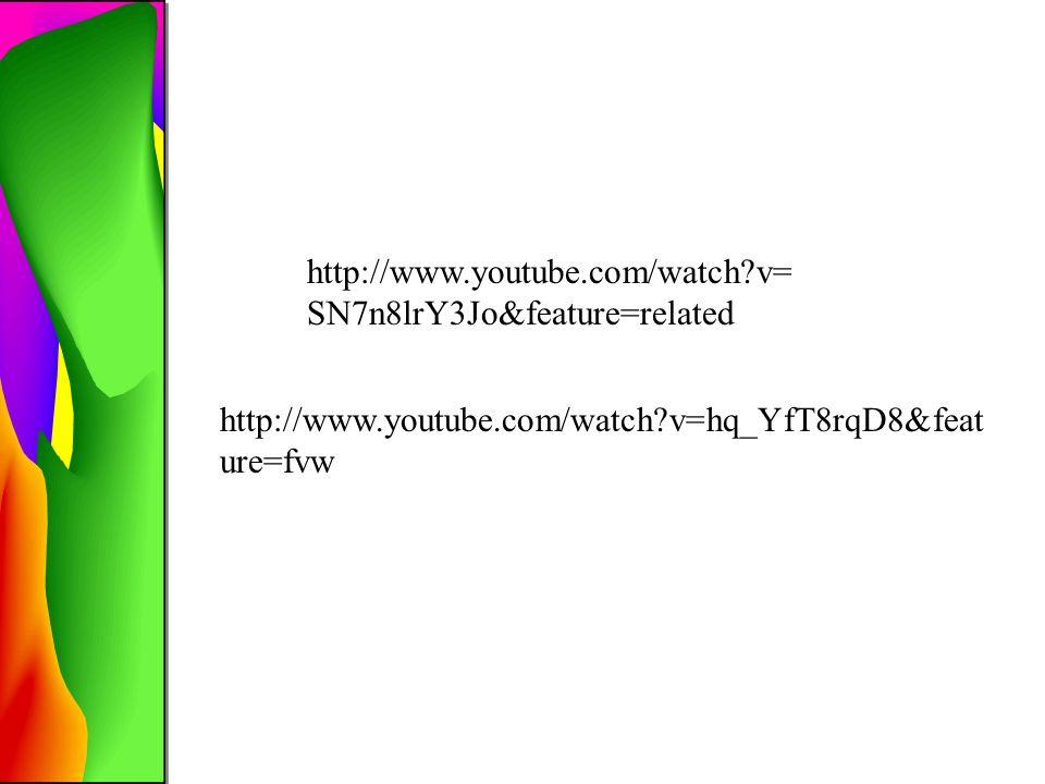 http://www.youtube.com/watch?v= SN7n8lrY3Jo&feature=related http://www.youtube.com/watch?v=hq_YfT8rqD8&feat ure=fvw