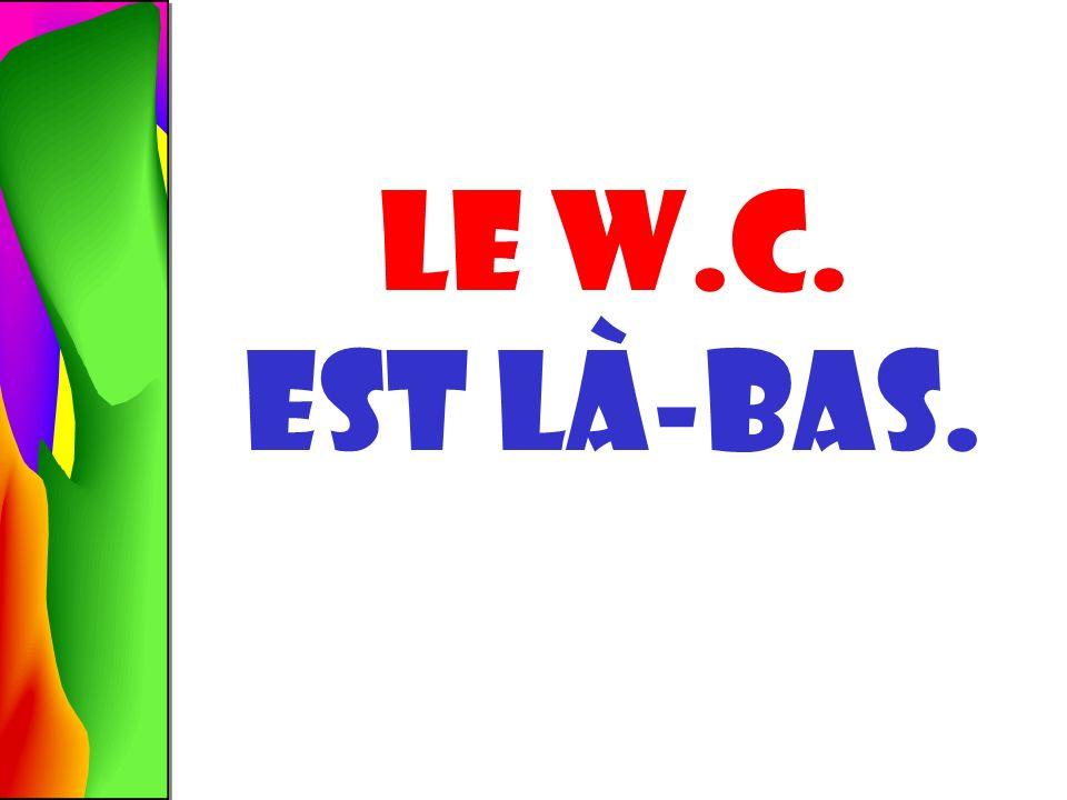 Le W.C. OÙ est