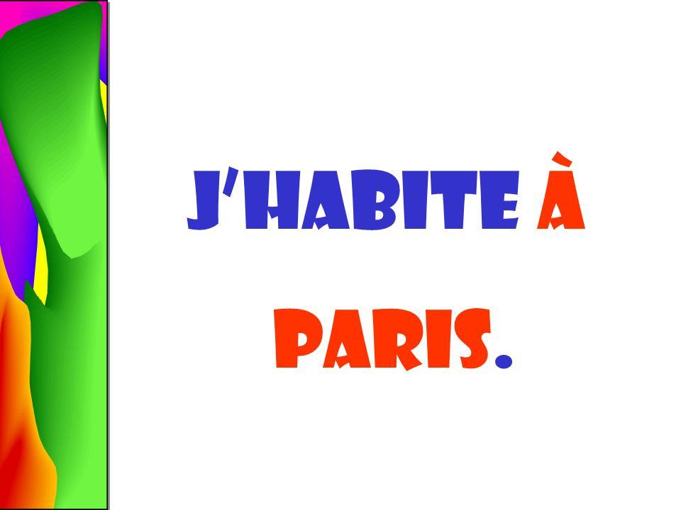 Jhabite À paris.