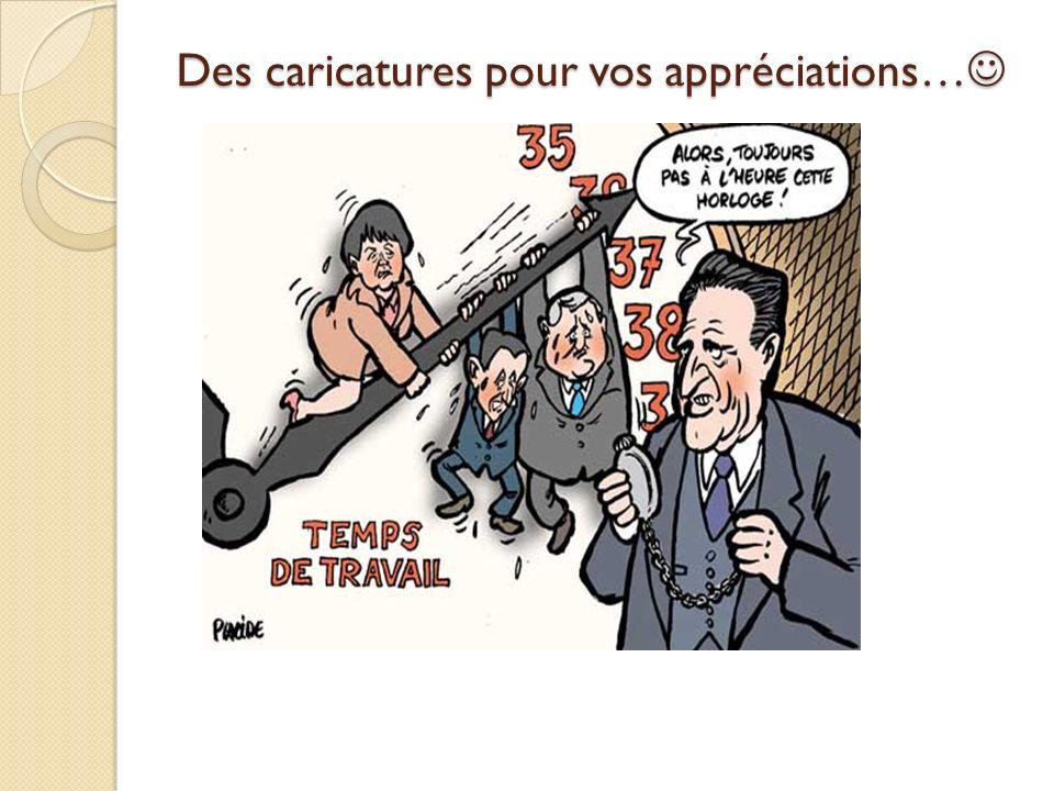 Des caricatures pour vos appréciations… Des caricatures pour vos appréciations…