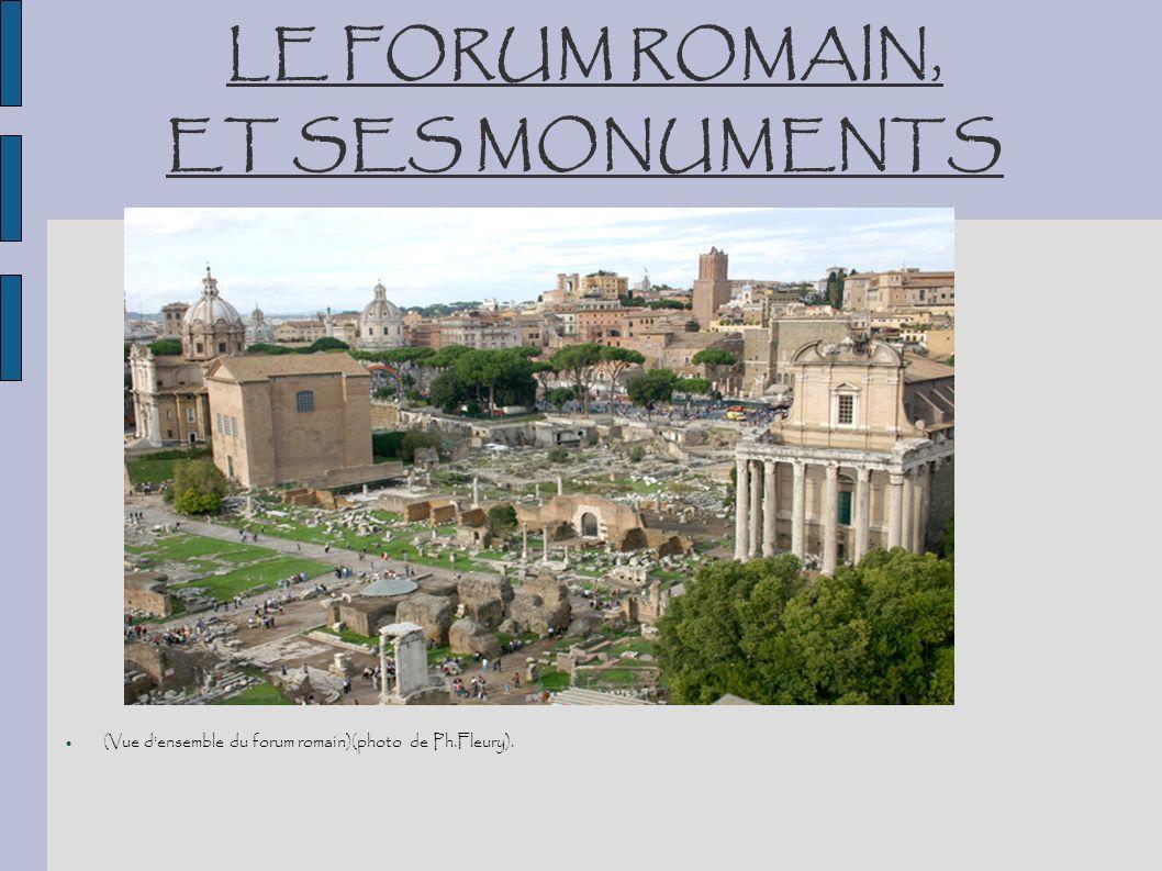 (Vue d'ensemble du forum romain)(photo de Ph.Fleury). LE FORUM ROMAIN, ET SES MONUMENTS
