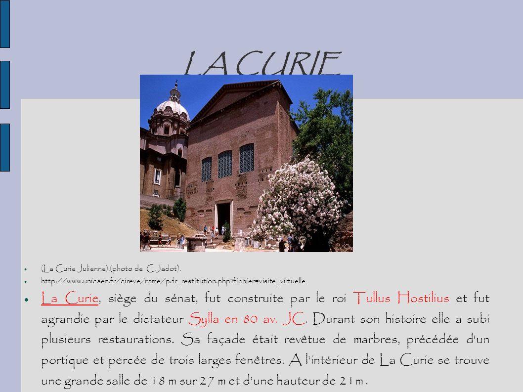 LA CURIE (La Curie Julienne).(photo de C.Jadot). http://www.unicaen.fr/cireve/rome/pdr_restitution.php?fichier=visite_virtuelle La Curie, siège du sén