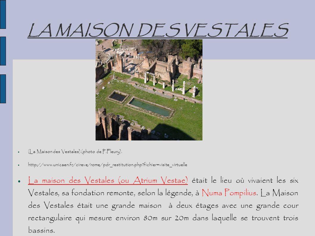 LA MAISON DES VESTALES (La Maison des Vestales).(photo de P.Fleury). http://www.unicaen.fr/cireve/rome/pdr_restitution.php?fichier=visite_virtuelle La