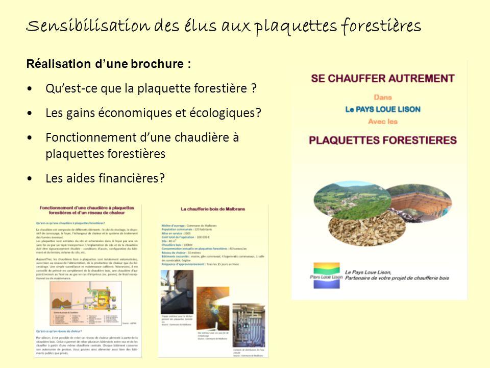 Sensibilisation des élus aux plaquettes forestières Réalisation dune brochure : Quest-ce que la plaquette forestière .