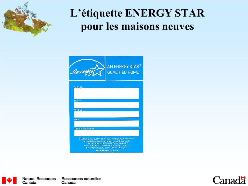 Létiquette ENERGY STAR pour les maisons neuves