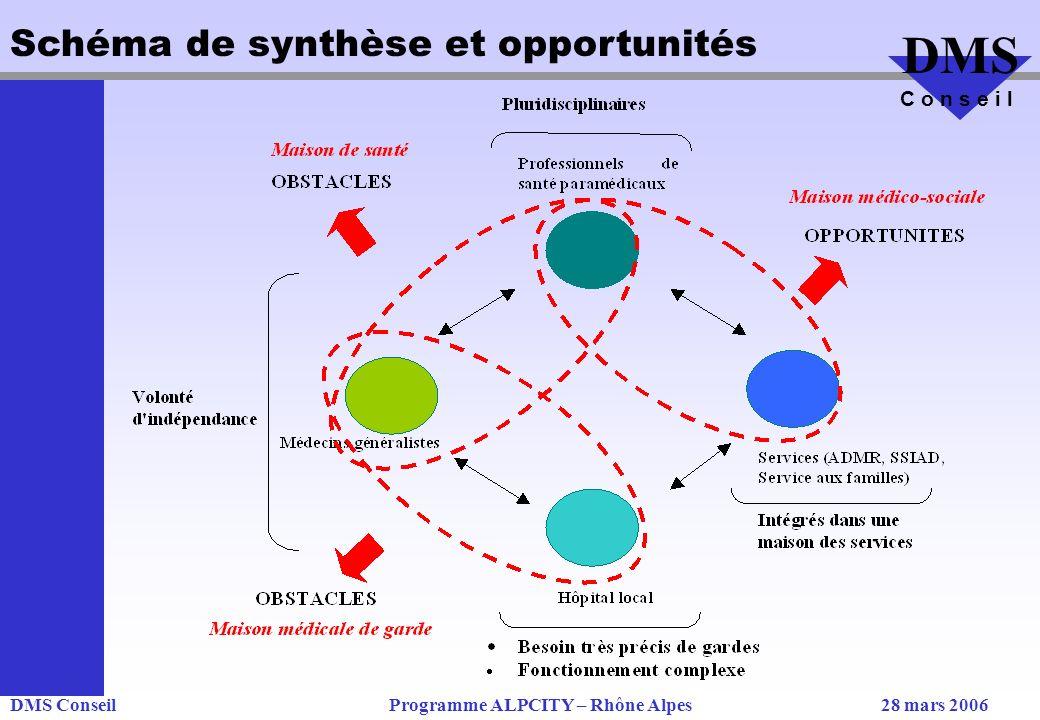 DMS ConseilProgramme ALPCITY – Rhône Alpes28 mars 2006 DMS C o n s e i l Schéma de synthèse et opportunités