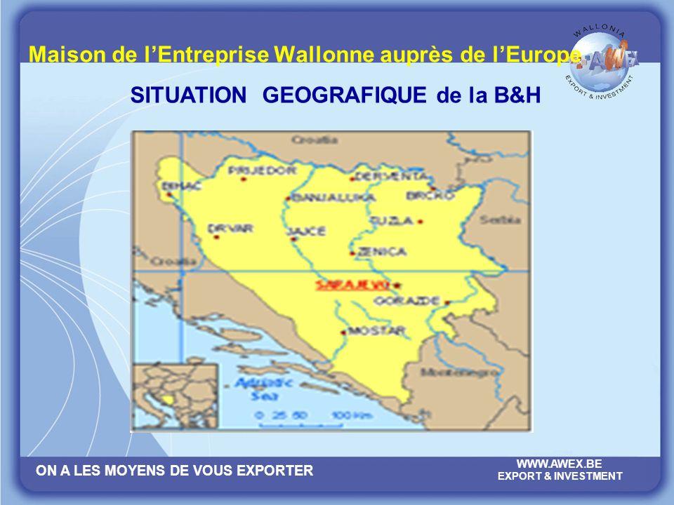 ON A LES MOYENS DE VOUS EXPORTER WWW.AWEX.BE EXPORT & INVESTMENT Maison de lEntreprise Wallonne auprès de lEurope MERCI POUR VOTRE ATTENTION!