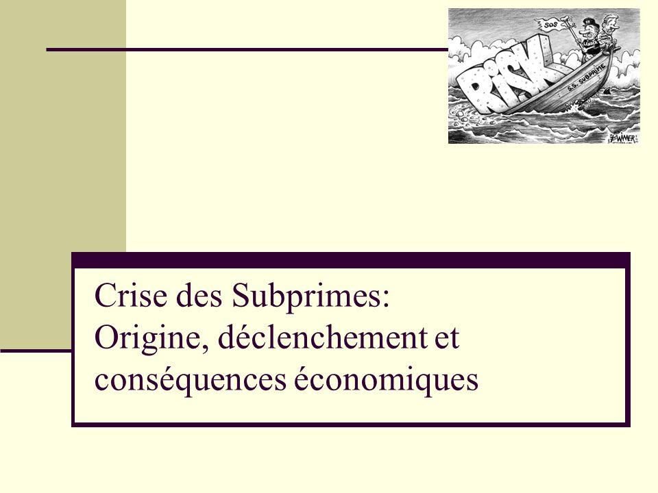 Crise des Subprimes: Origine, déclenchement et conséquences économiques
