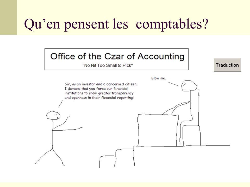 Quen pensent les comptables?