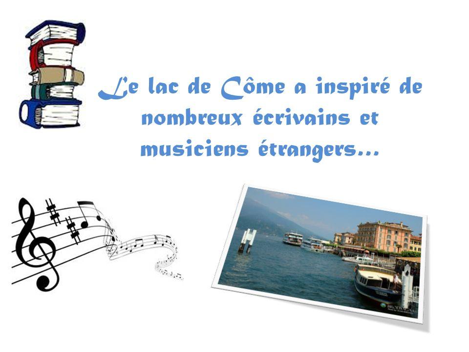 Le lac de Côme a inspiré de nombreux écrivains et musiciens étrangers…