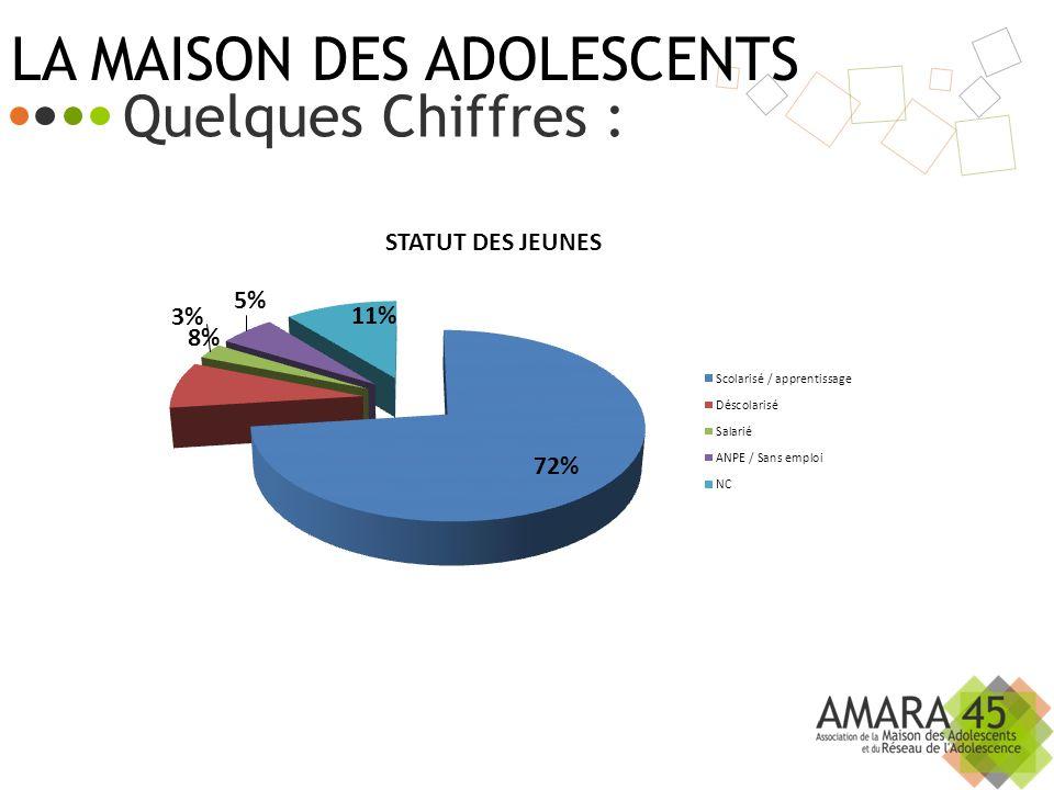 LA MAISON DES ADOLESCENTS Quelques Chiffres :
