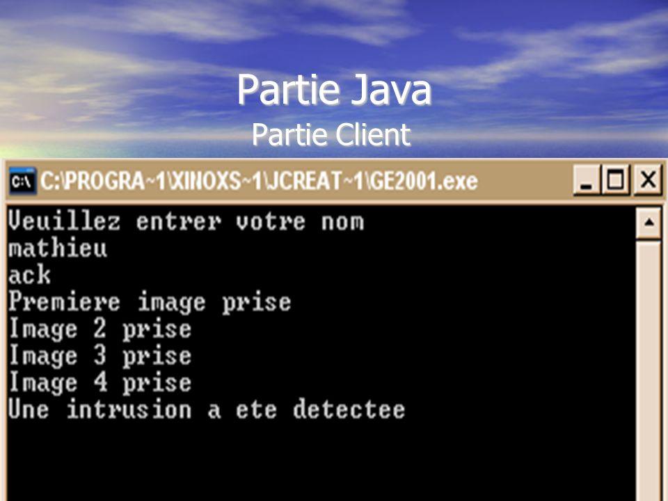 Partie Java Partie Client