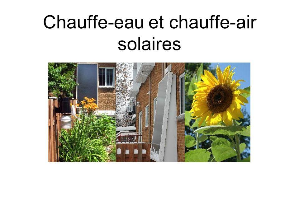 Mes constatations Mes conclusions: 1200 kWh sur 4500 kWh (consommation eau 2 adultes + 2 enfants selon Hydro-Québec) --> 26% d économie Similaire à la conclusion dune étude Hydro-Québec ( 1500 kwh avec 2 panneaux ) Exemple en plein été et en novembre: Été – Juillet ( de 25 C a 55 C ) gain de 30 degrés environ 7kWh Hiver - Janvier ( de 10 C a 30 C ) gain de 20 degrés environ 5 kWh Max 62 celcius installation dun mitigeur Mois le plus productif --> mois de mai (140 kWh), le moins productif --> décembre ( 15 kWh ) Peut être intéressant de le coupler à un recupérateur de chaleur des eaux grises où à chauffe-eau instantanné ( surtout lhiver )