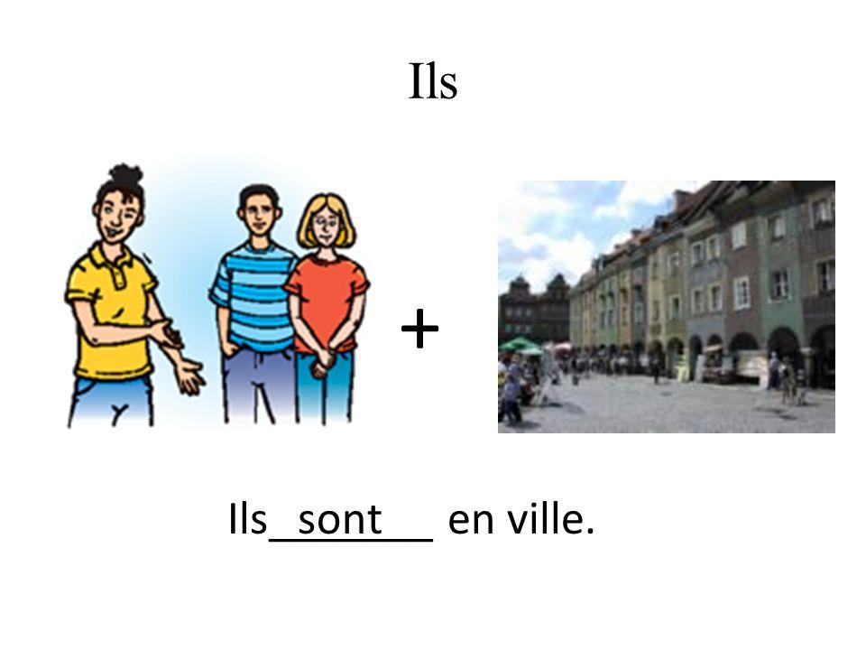 Ils + Ils_______ en ville.sont