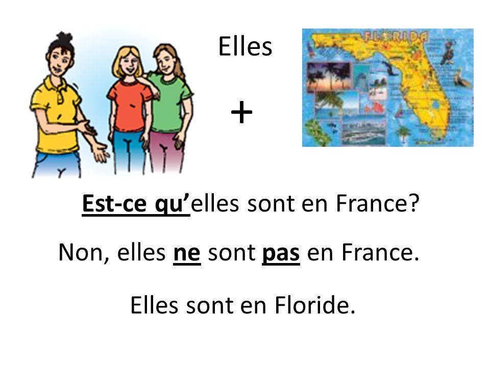 Elles + Elles sont en Floride. Est-ce quelles sont en France Non, elles ne sont pas en France.