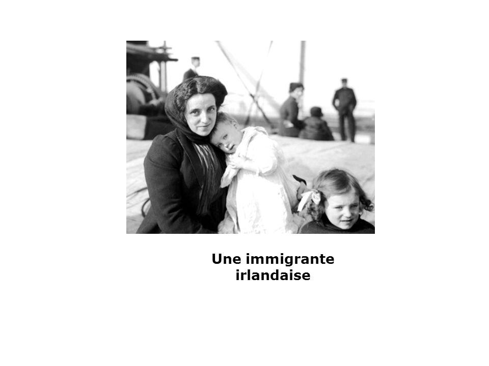 Une immigrante irlandaise