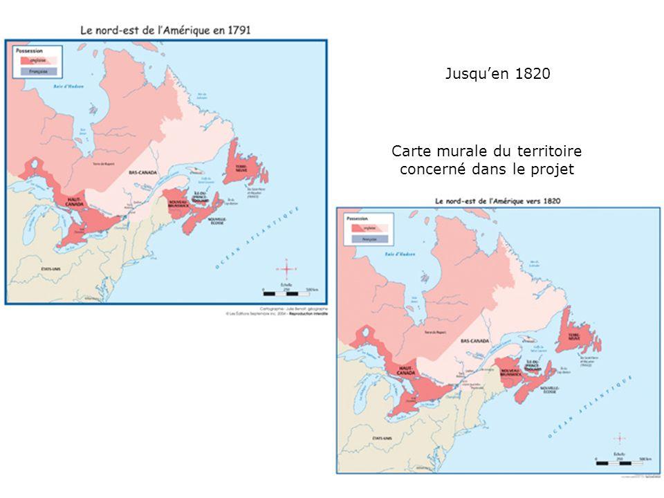 Jusquen 1820 Carte murale du territoire concerné dans le projet
