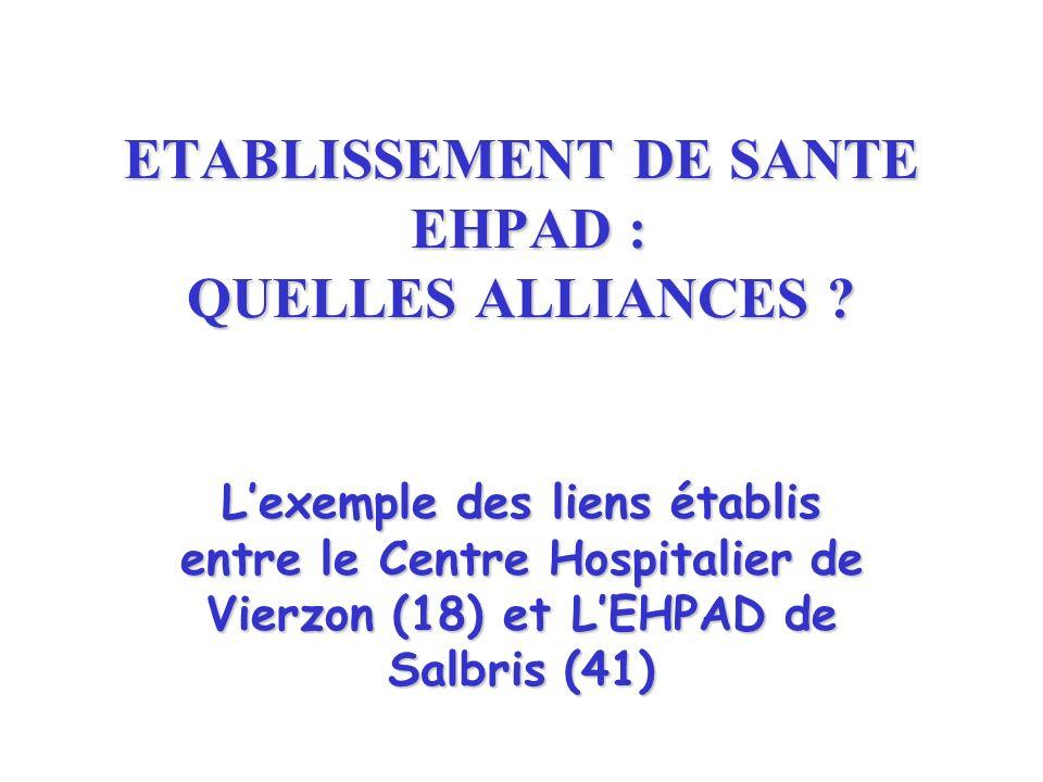 ETABLISSEMENT DE SANTE EHPAD : QUELLES ALLIANCES .