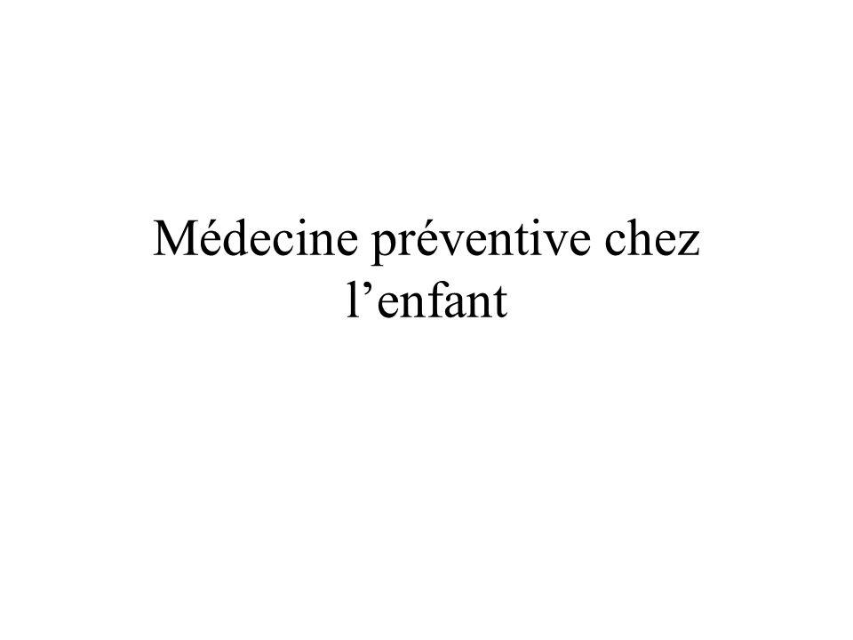 Médecine préventive chez lenfant