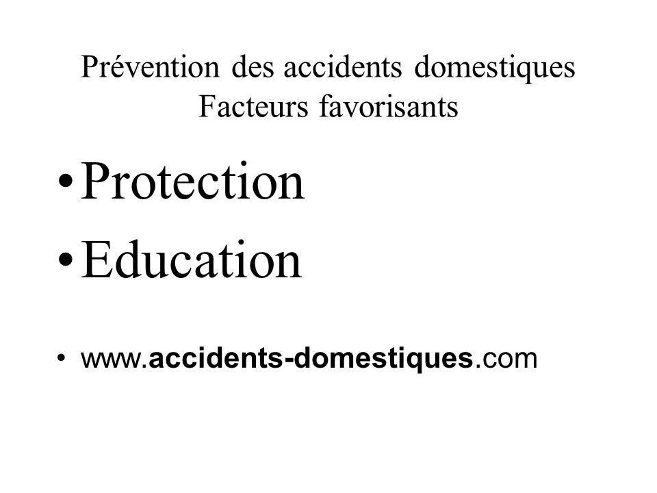 Prévention des accidents domestiques Facteurs favorisants Protection Education www.accidents-domestiques.com