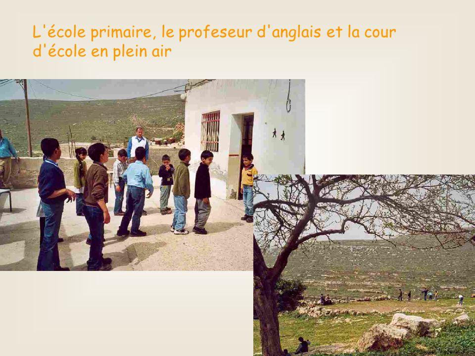 L école primaire, le profeseur d anglais et la cour d école en plein air
