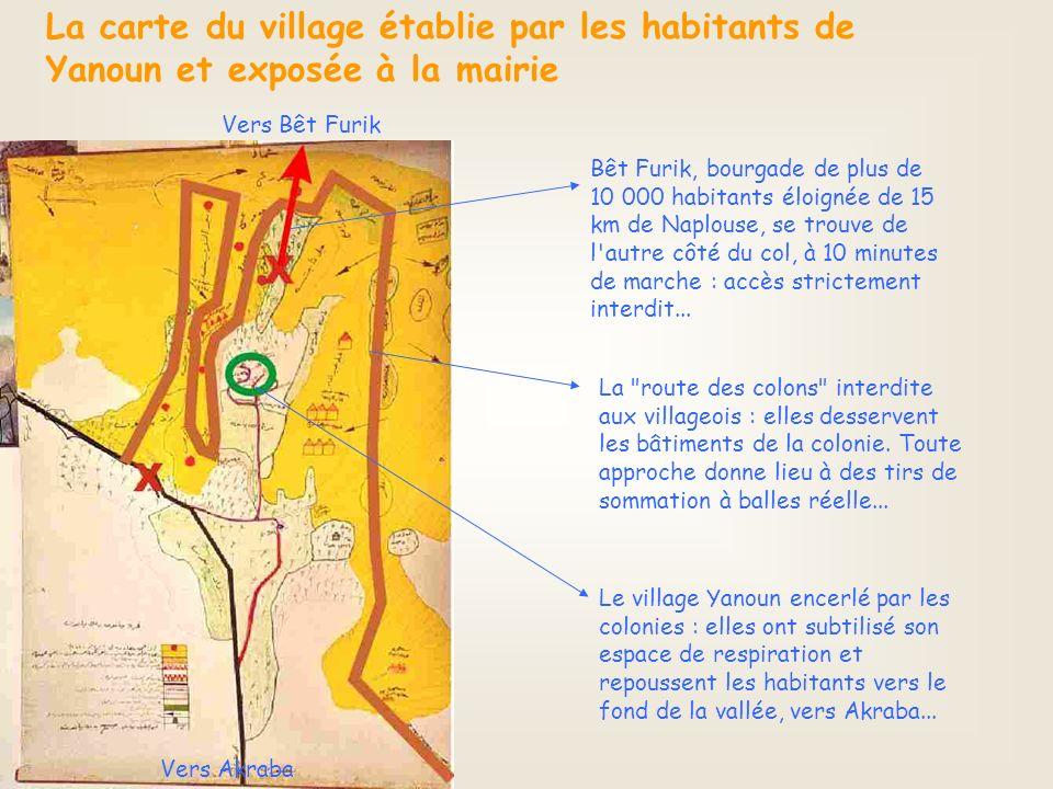 Bêt Furik, bourgade de plus de 10 000 habitants éloignée de 15 km de Naplouse, se trouve de l autre côté du col, à 10 minutes de marche : accès strictement interdit...