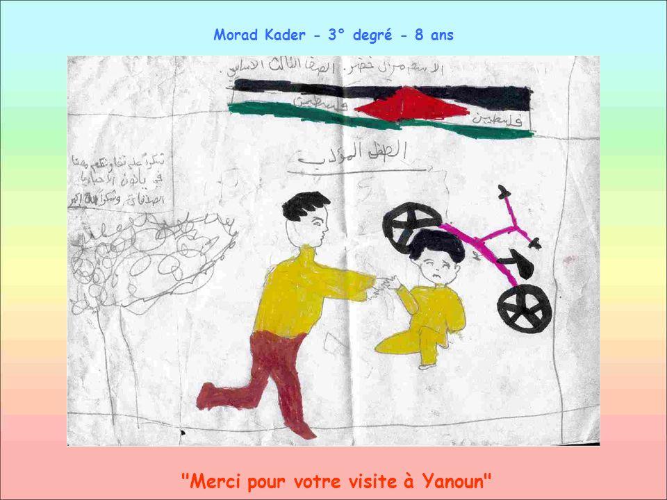 Merci pour votre visite à Yanoun Morad Kader - 3° degré - 8 ans