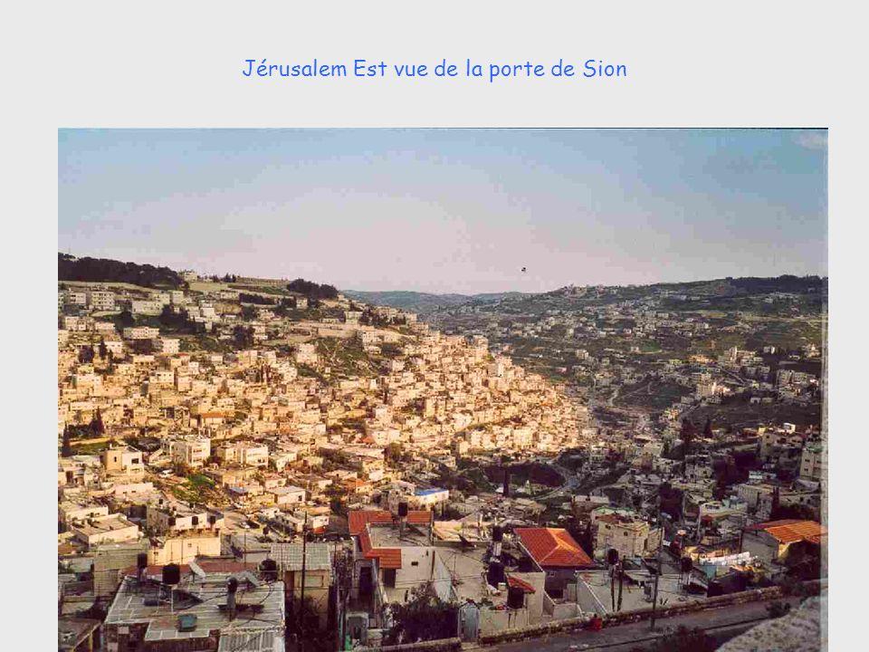 Jérusalem Est vue de la porte de Sion