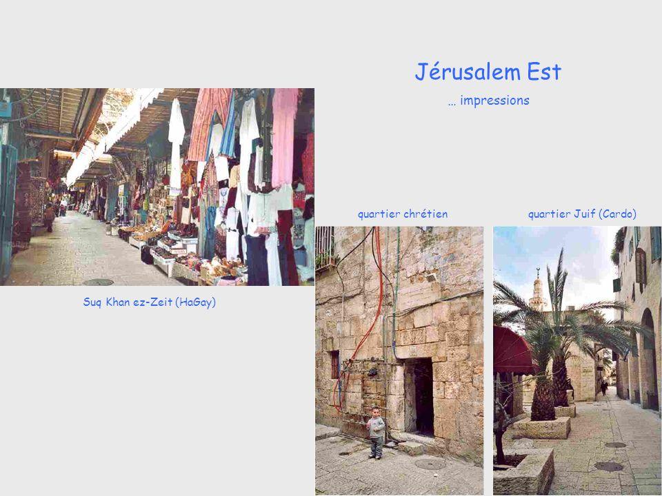 Suq Khan ez-Zeit (HaGay) quartier Juif (Cardo)quartier chrétien Jérusalem Est … impressions