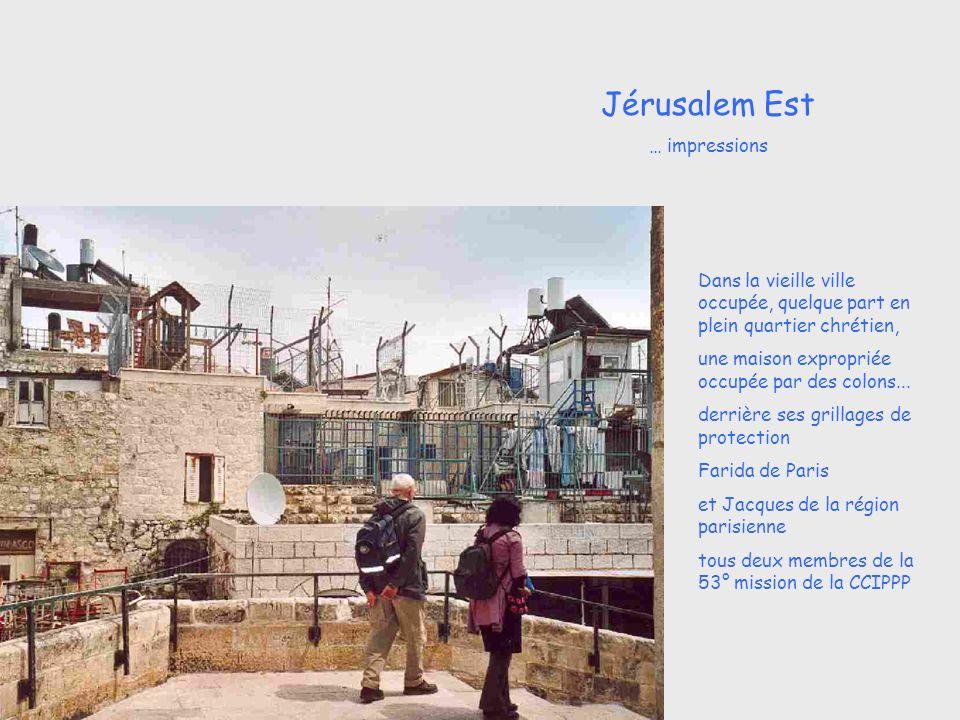 Dans la vieille ville occupée, quelque part en plein quartier chrétien, une maison expropriée occupée par des colons...