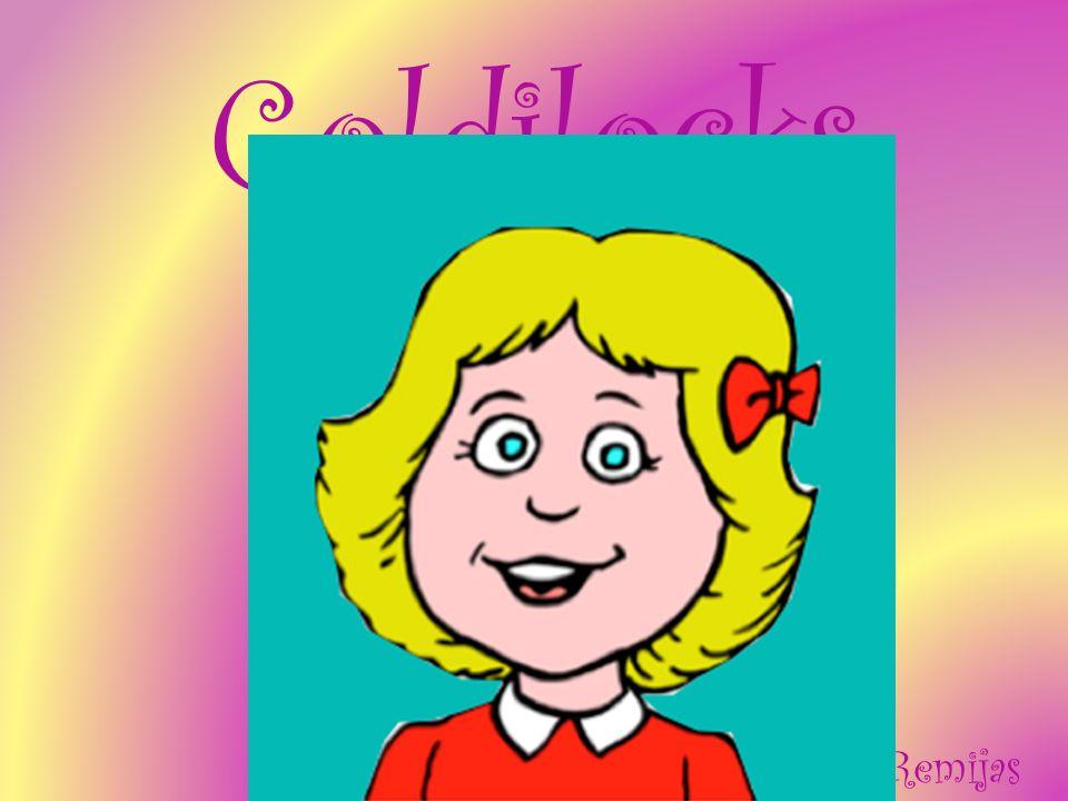 Goldilocks est petite et blonde.Goldilocks fait une promenade de pied.