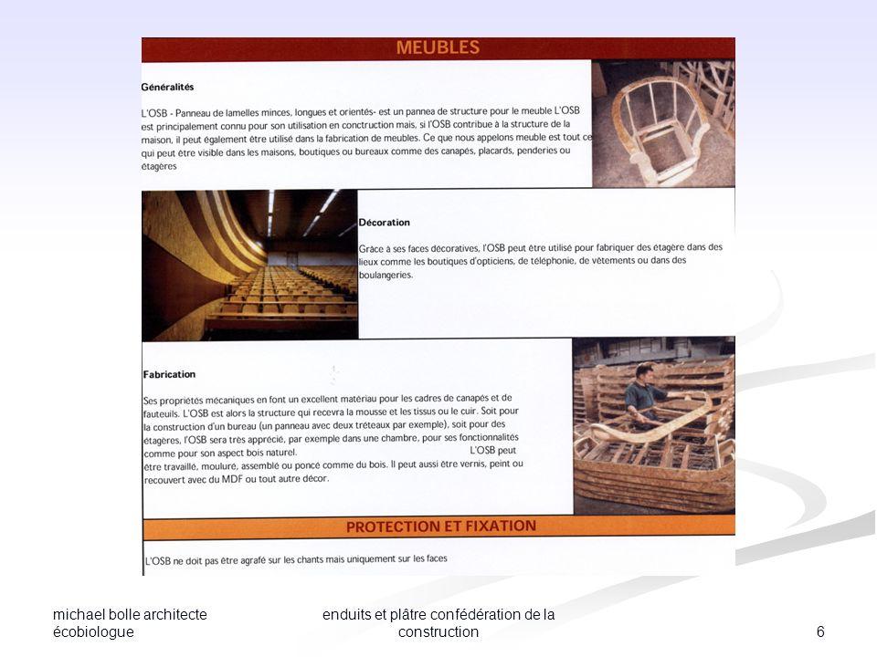 michael bolle architecte écobiologue 17 enduits et plâtre confédération de la construction Murs intérieurs et plafonds